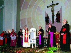 Wizyta w Lubaczowie Jana Pawła II w czasie czwartej pielgrzymki do Polski