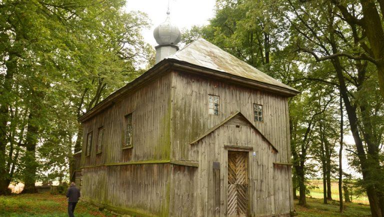 Cerkiew greckokatolicka Zaśnięcia Matki Bożej w Żmijowiskach, wrzesień 2017 r.