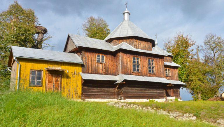 Cerkiew greckokatolicka Opieki Przenajświętszej Bogurodzicy w Chotylubiu, listopad 2019 r.