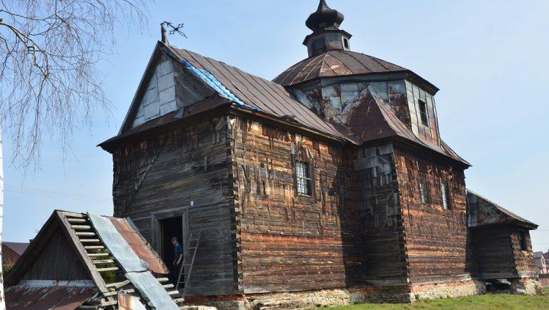 Cerkiew greckokatolicka św. Dymitra w Cewkowie, październik 2016 r.