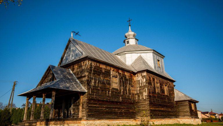 Cerkiew greckokatolicka św. Dymitra w Cewkowie, wrzesień 2019 r.