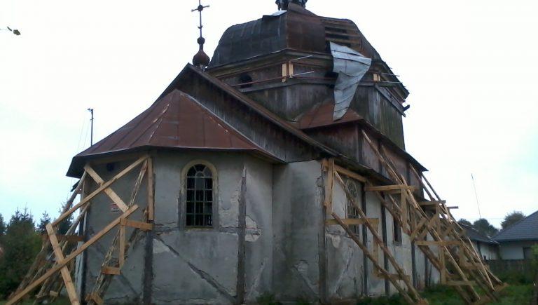 Cerkiew greckokatolicka św. Mikołaja Cudotwórcy w Wielkich Oczach, sierpień 2014 r.